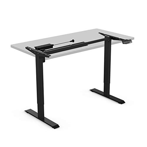 FLEXISPOT E1B Height Adjustable Electric Standing Desk Frame Two-Stage Only with Heavy Duty Steel Stand up Desk with Automatic Memory Smart Keyboard (Black)