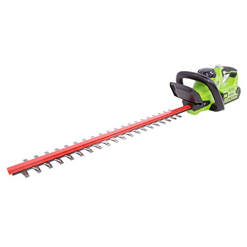 Greenworks HT40B210 24-Inch 40V Cordless Hedge Trimmer, 2Ah, 2.0Ah Battery and Charger Included