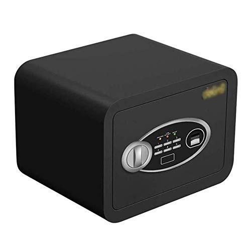 WANGJUNXIU Veilige Kluis, Geld Nominaal Hoge Beveiliging Elektronisch Digitaal Veilig Staal Vingerafdruk Wachtwoord Kleine Koffer Thuis Vloer Geld Digitaal Veilig - 30 × 30 × 38CM Safe Box Zwart