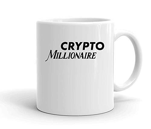 IDcommerce Crypto Millionaire Tasse en Céramique Blanche pour Le Thé Et Le Café