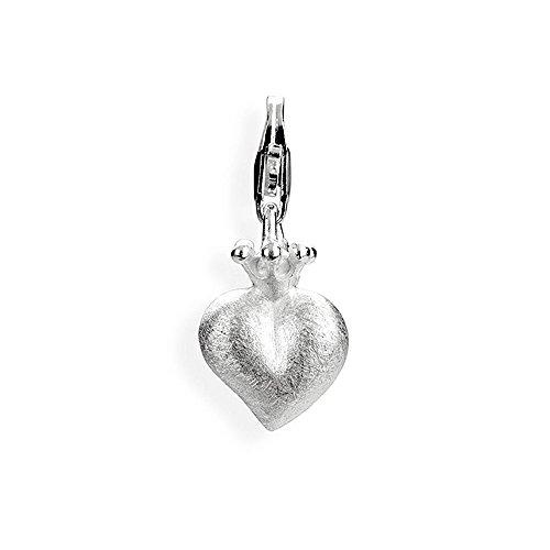 Heartbreaker Damen- Charm Crown of my Heart Herz mit Krone 925 Silber HB 203