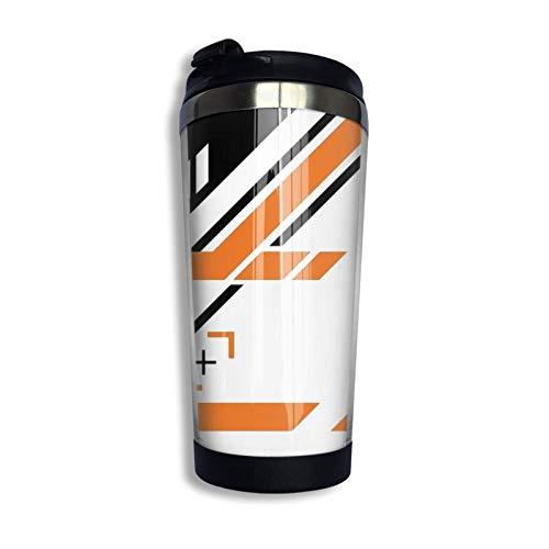 Hdadwy Taza de viaje personalizada Csg-O Negro Naranja Vaso de café de acero inoxidable Taza de café con aislamiento al vacío de doble pared para Navidad Cumpleaños Oficina en casa