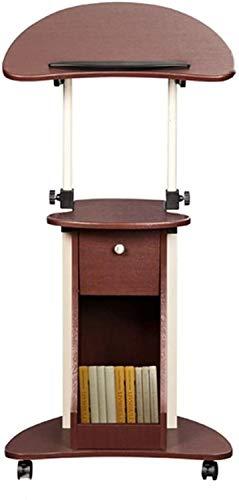 HOLPPO-URG Atril Atril Baja Altura Ajustable Soporte portátil de Sonido Baja Atril Atril Hablando con cajón Presentación de Muebles de Oficina URG