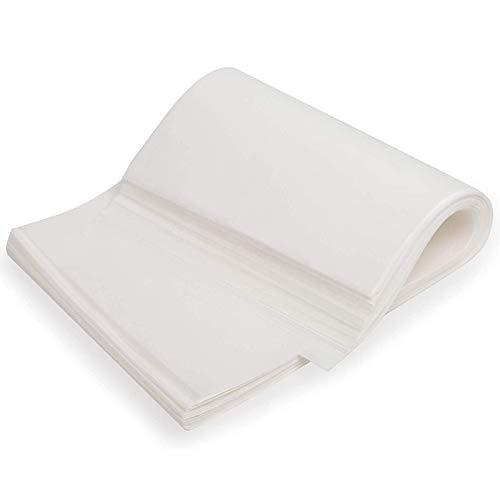 Vaorwne 330 Piezas de Papel de Aceite de Silicona Bandeja para Hornear Papel para Hornear Antiadherente, Adecuado para Hornear Pasteles, Barbacoa Blanco 22X33Cm