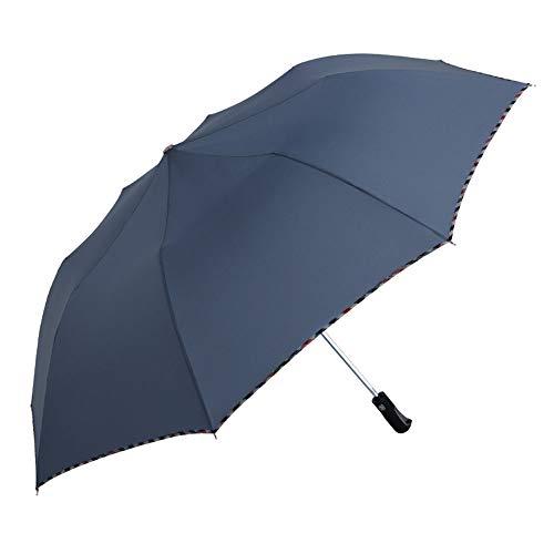 Paraguas Plegable Días soleados y lluviosos Paraguas de Doble Uso Un botón para Cerrar y Abrir GW (Color : Gris Azulado)