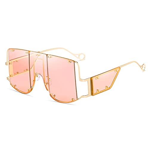 occhiali da sole alla moda di grandi dimensioni occhiali da sole quadrati retrò per uomo donna occhiali dal design alla moda in metallo di tendenza occhiali unici