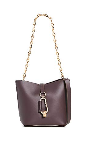 Leather: Cowhide Structured silhouette Length: 6.25in / 16cm Height: 6in / 15cm Carabiner clip closure