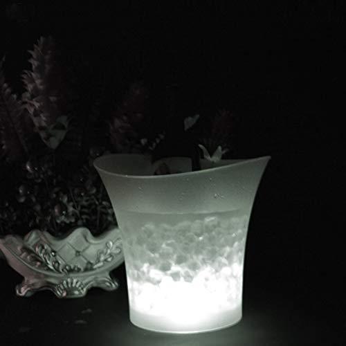 Cubo de hielo, 5L 7 colores LED Hielo Shampain Cubo de hielo Contenedor de hielo Champagne Copa de cerveza Vino congelar el cubo para las discotecas de la fiesta de la barra Cubo de la enfriadora de v