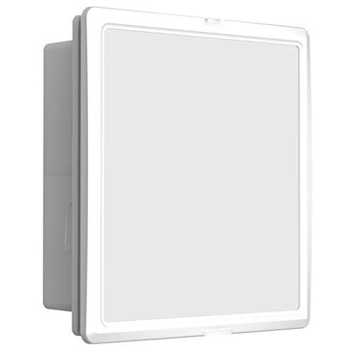 Hbao Ventilador de ventilación, techo integrado, extractor de aire, techo de baño, escape integrado y combinación de lámpara