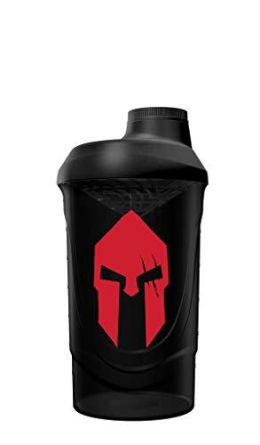 Gods Rage Shaker Wave Shaker Proteinshaker Eiweiß Protein Shaker 600ml Fassungsvermögen (Sparta Black)