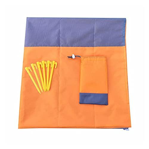 cderfv Manta de pícnic antiarena, extra grande, impermeable, suave y duradera, portátil, 4 esquinas de fijación B-naranja. XXL
