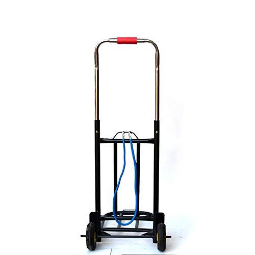 ZzheHou Einkaufswagen Auto-Gepäckwagen Warenkorb Klapp Wohnung Treppe Fliese Warenkorb Faltbar für einfache Aufbewahrung (Color : Black, Size : 93 * 34 * 28cm)