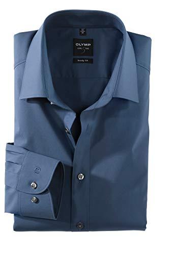 Herren Hemd Level Five Body Fit Langarm Blau Gr.41