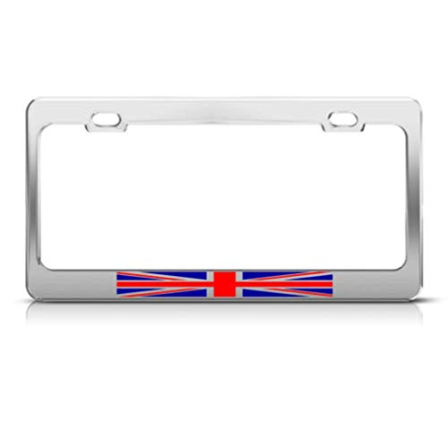FEDDIY Metal License Plate Frame British Flag United Kingdom Country Car Accessories Aluminum