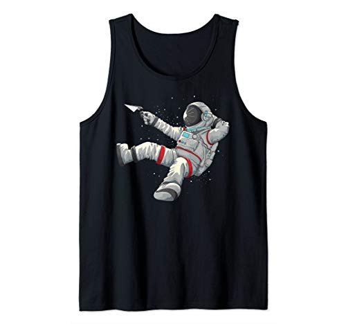 Cool Relaxing Astronaut | Funny Spaceman Paper Airplane Gift Tank Top