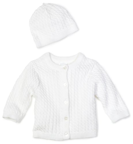 Product Image of the Little Me Unisex-baby Newborn Lovable Cable Sweater, White, 3 Months