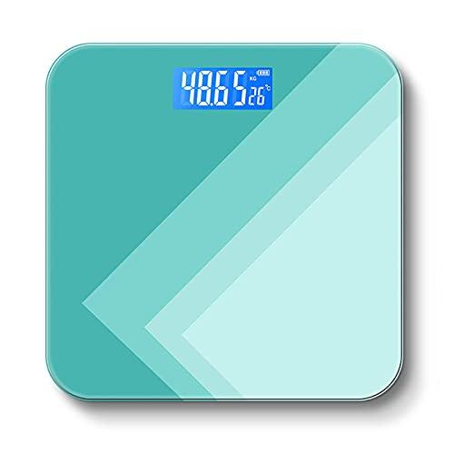 YUHUA Báscula de Baño 2021 Nuevas Básculas Electrónicas de Piso Balanzas de Alta Precisión Vidrio Templado LCD Báscula de Peso de Baño Báscula Humana de Cuerpo Peso 180 Kg,Green