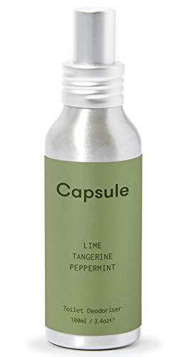 Capsule - Antes de usted Go spray para inodoro, lima, mandarina, menta, 100 ml de desodorante de lujo para inodoro
