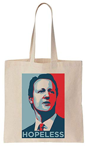 Finest Prints David Cameron HOPELESS Brexit Poster Cotton Canvas Tote Bag