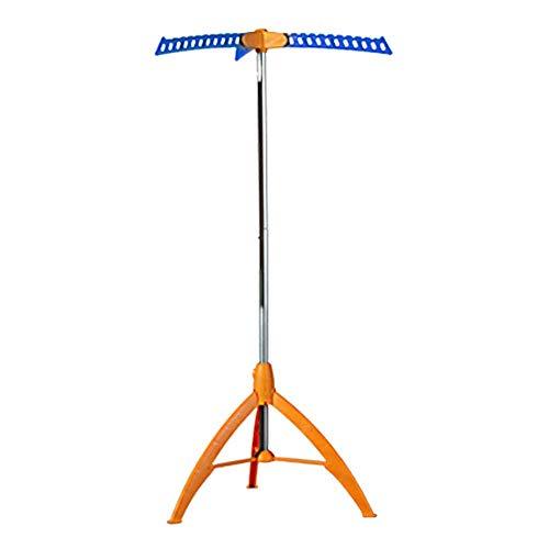 iHouse Tragbares Einfaches Bodenfalten Wäscheständer, Trocknungsgestell, Wäschespinnen, im Innenbereich Outdoor-Hängegestell 65x65x133 Hcm - Orange