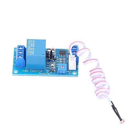 Módulo de relé de control de luz, módulo de relé de control de luz Brillo automático Módulo fotorresistor de fácil instalación para detección de alumbrado público...