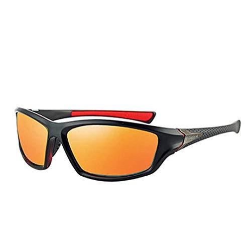 Sonnenbrille Sunglasses Männer Polarisierte Sonnenbrillen Markendesign Männer Fahren Sonnenbrillen Männliche Quadratische Nachtsichtbrillen Brillen Uv400 Shades Orange