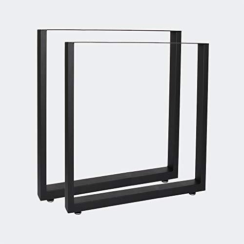 Bastidores para mesa 60x72 cm Recubrimiento polvo negro Caballetes tablero Patas mesita Bricolaje