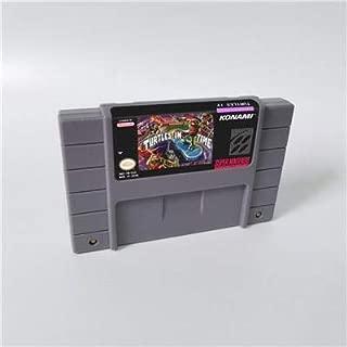 Game card - Game Cartridge 16 Bit SNES , Game Teenage Mutant Ninja Turtles IV Turtle in the Time - Action Game Card US Version English Language