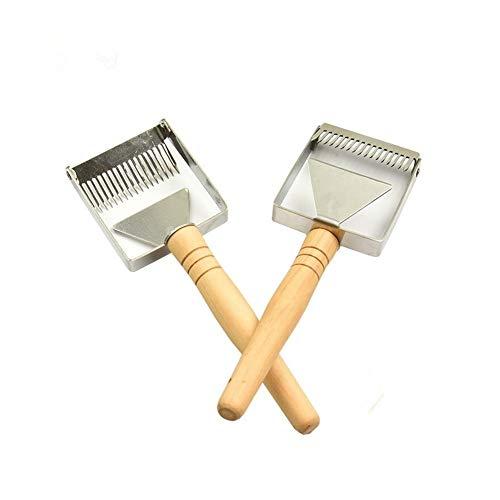 Wooden Handle Needle Honey Knife Sparse Shovel Cutter Honey Scraper Bee Shovel Comb Uncapping Fork Beekeeping Tools