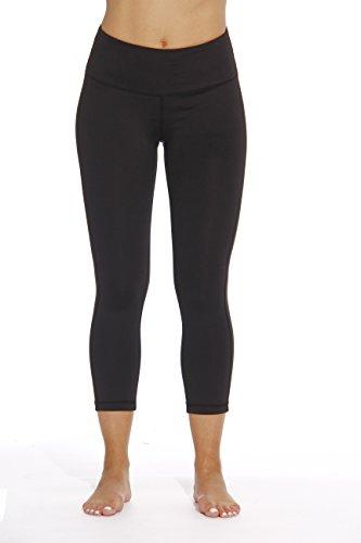 Just Love 401574-BLK-L Yoga Capri Pants for Women