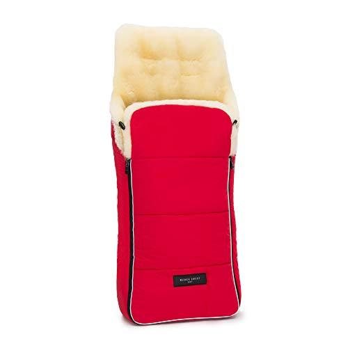 Lammfell Kinderwagen-Fußsack AROSA von WERNER CHRIST BABY – kuscheliger Buggy Lammfell-Fußsack, medizinisches Fell, als Wickelunterlage & Kinderwageneinlage verwendbar, in chili red (rot)