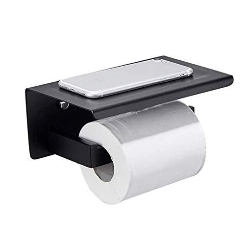 WLA Portarrollos de papel higiénico, soporte de papel para pared, soporte para papel higiénico autoadhesivo, soporte para rollos de cocina de acero inoxidable