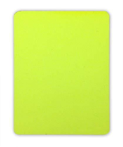 handball fanshirts. de Gelbe Karte für Schiedsrichter 9 x 12 cm PVC neonfarben regelkonform ohne Logo