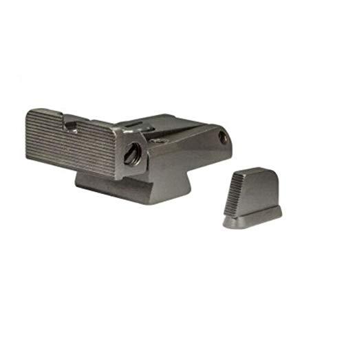 LPA SPR Adjustable Black Serrated Sight Set for CZ 75/85 Models w/Dovetail Front SPR86CZ07