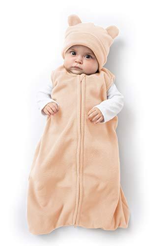 Cuddle Club Schlafsack Baby und Neugeborene - Tragbare Decke - Baby Schlafsack aus Fleece - BearWBPinkS