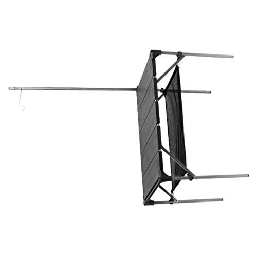 BESPORTBLE 1 Set Outdoor-Grilltisch Tragbarer Camping-Tisch Zusammenklappbarer Aluminiumtisch Outdoor-Picknickausrüstung Picknickzubehör für Reiseurlaub Picknick-Grill