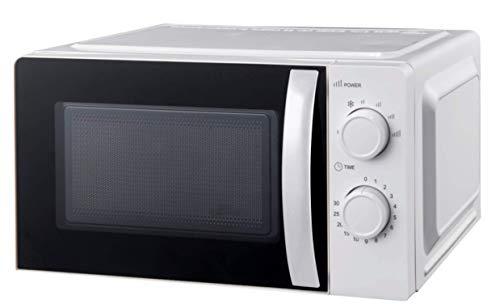 Ohmex OHM-MWO-2089 – Microondas – Capacidad 20 L – 6 niveles de potencia – 700 W – Control mecánico – Función de descongelación – Negro