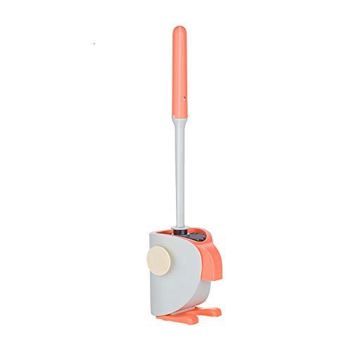 LLDKA Cepillo de Inodoro y cáscara de baño de Suelo de pie de Pared y Caddy, ventilación, baño, plástico,1
