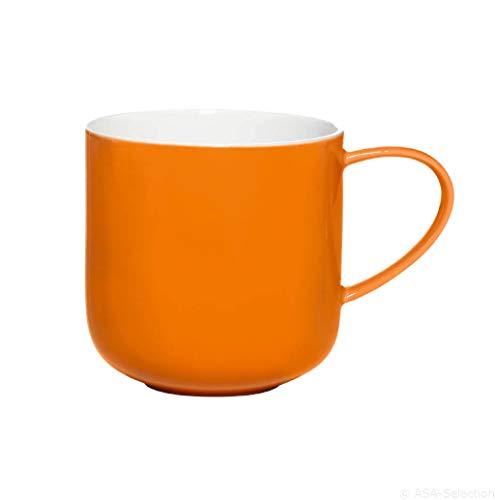 ASA Selection Coppa Henkelbecher, Kaffeebecher, fine Bone, Orange, 400 ml, 19100807
