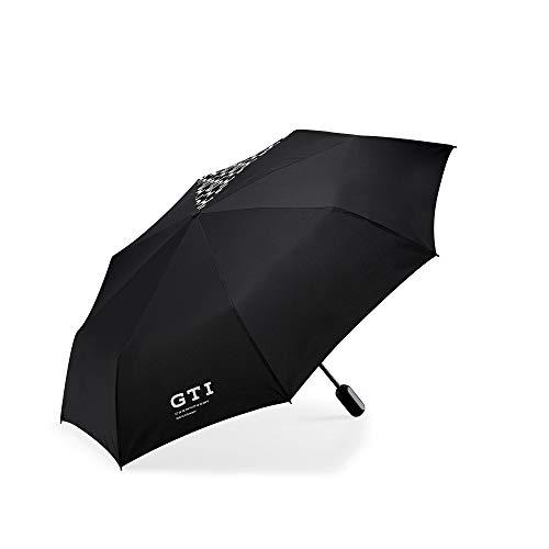 Volkswagen 5HV087602 Regenschirm vollautomatisch, GTI Kollektion, Schwarz, Durchmesser: 95cm, Länge:30 cm