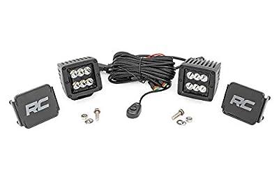 "Rough Country 2"" LED Square Cubes   CREE Light Pods   Spot Beam   Black Series   Pair   70903BLLight Pods   Spot Beam   Black Series   Pair   70903BL"
