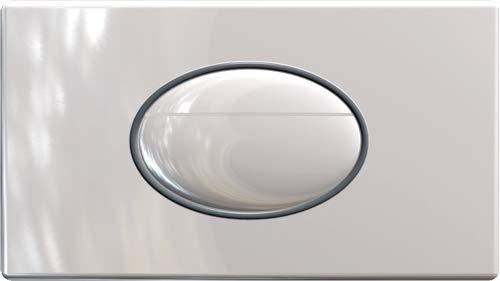 ITS Todini | Ellipse | Placca DI Comando ABS | Pulsante Sciacquone WC E Per Scarico Acqua | Piastra DI Azionamento per Cassetta WC Incasso | Bianco