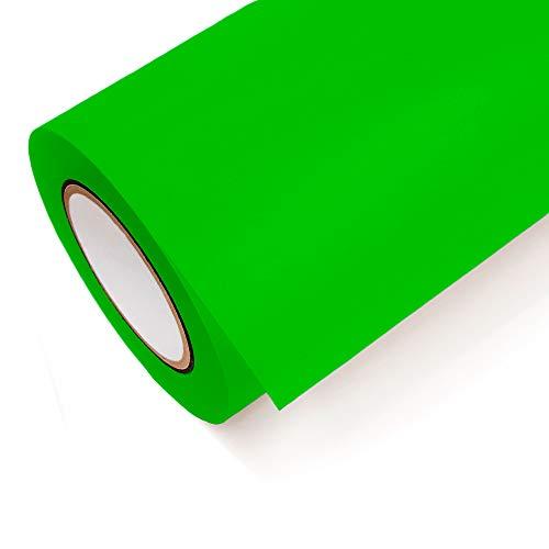 NEON Folie Oracal 6510 Fluorescent Cast - Klebefolie Möbel Folie Deko Folie Autofolie - Farbe Neon Grün - 069 - Breite 1m - Rollenlänge 1m