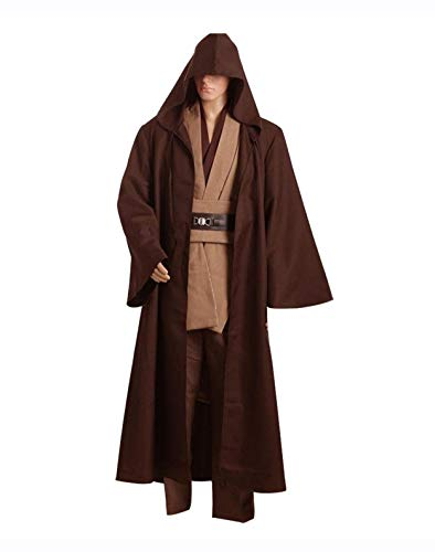 Fuman Ritter Kostüm Kenobi Tunic Cosplay Costume Braun Version L