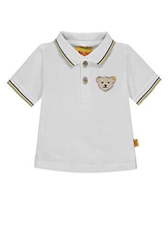 Steiff Steiff Baby-Jungen 1/4 Arm Poloshirt, Weiß (Bright White|White 1000), 86