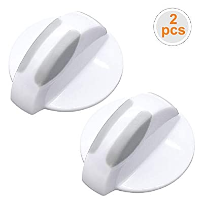 AMI PARTS 134844410 Washer/Dryer Selector Knob, white Compatible with Frigidaire