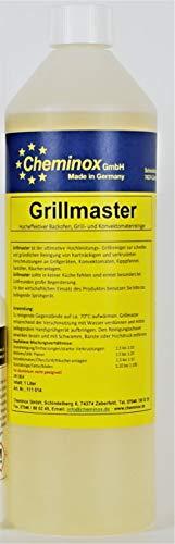 Cheminox Grillreiniger (1000 ml), Konzentrat bis 15 Liter Lösung, Gasgrill-Reiniger, Grill Reinigung inkl. Sprühflasche