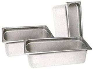 Winco SPT4 1/3 Size Pan, 4-Inch, Set of 6