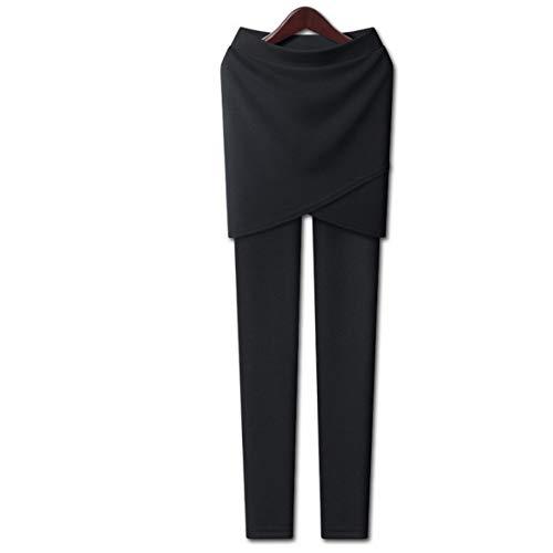 Ayujia Yogahosen Beiläufige Leggings Frauen Fitness Herbst Winter Plus Größe 5XL Outwear Lange Hosen Kreuz Seite Leggings Mit Rock...