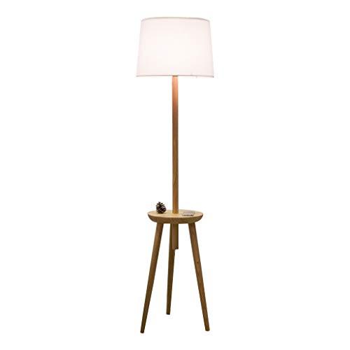 BTPDIAN Creative IKEA sofá Mesa de café LED lámpara de pie Americana (Color : White)